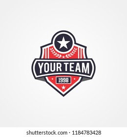 Sports team or campaign or national and patriotic badge logo template