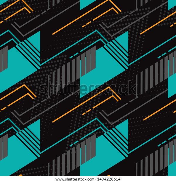 Sports Textile Modern Seamless Pattern Wallpaper Stock