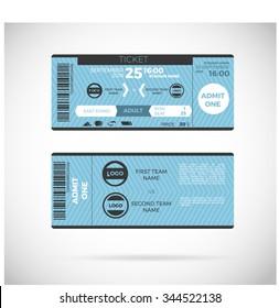 Sports Ticket Card. modern element vector design