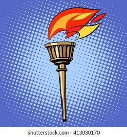 sports torch, fire torchbearer