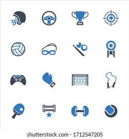 Sports vector icons on white background - Set 2