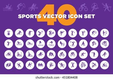 Sports Vector Pictogram Icon Set