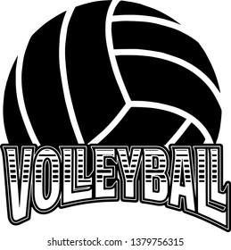 Sports Volleyball Emblem Design Element Logo