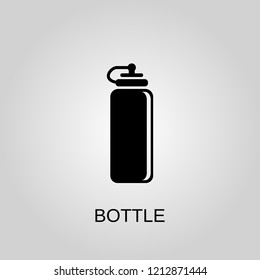 Sports water bottle icon. Sports water bottle symbol. Flat design. Stock - Vector illustration
