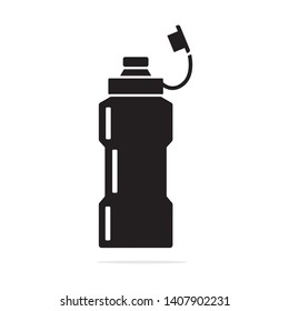 Sports water bottle icon. Vector concept illustration for design.