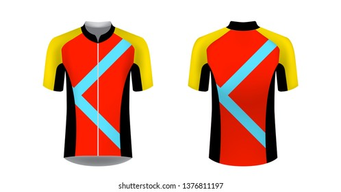 04f387f9 bike jersey mockup. Sportswear templates for designers. Layouts for creating  custom designs for promotions and sport events. t-shirt ...