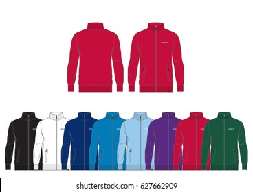 Sportswear Track Jacket // front and back views with team wear colors
