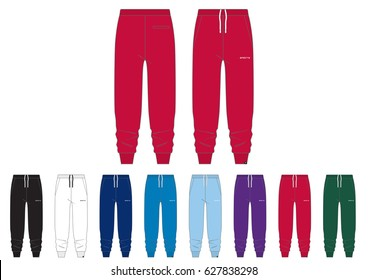 Sportswear Track Pants // front and back views with team wear colors
