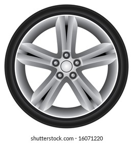 Sporty Aluminum Wheel (Vector)