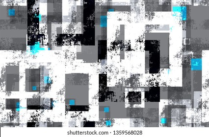 Sporty Clothes Seamless Background Texture. Rough Geometry Pattern. Geometric Grainy Style Texture. Technological Camouflage Pattern.
