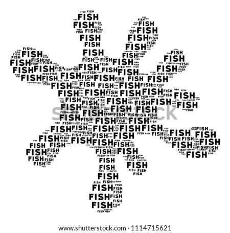 spot figure composed fish word elements stock vector royalty free