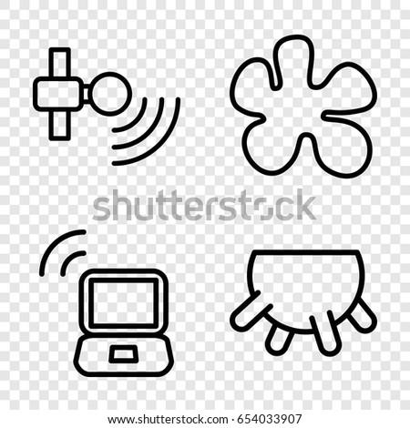 Spot Icons Set Set 4 Spot Stock Vector Royalty Free 654033907