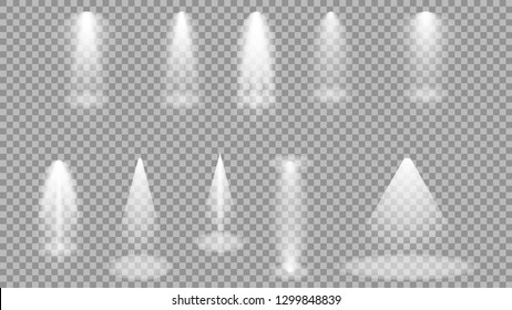 spot lighting of the stage, collection of spotlights on the stage. in the spotlight, vector graphics