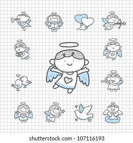 Spotless Series | Hand drawn Angel  icon set