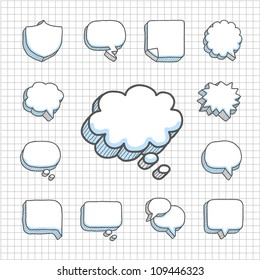 Spotless Series | Hand drawn Speech ,Thought Bubbles icon set