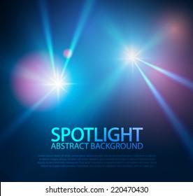 Spotlight abstract background. Vector illustration