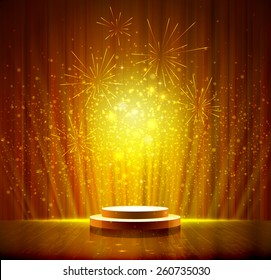 spotlight effect gold scene background