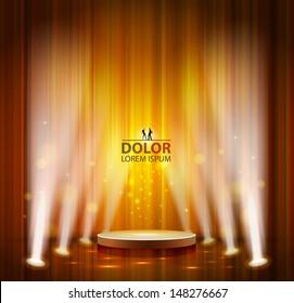 spotlight effect scene background