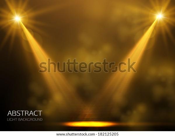 spotlight gold background