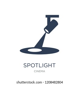 Spotlight icon. Trendy flat vector Spotlight icon on white background from Cinema collection, vector illustration can be use for web and mobile, eps10