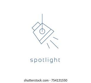 spotlight icon, Vector studio light Icon