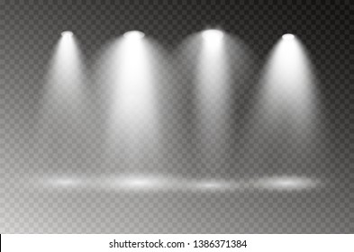 The spotlight shines on the stage. light exclusive use lens flash light effect. light from a lamp or spotlight. lighted scene. podium.