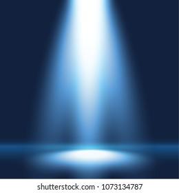 Spotlight shining on empty stage, scenario background