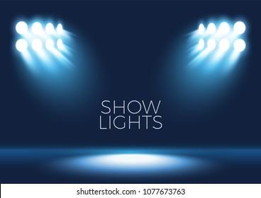 Spotlight shining on empty stage