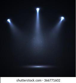 Spotlight vector background. Vector eps10.