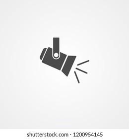 Spotlight vector icon sign symbol