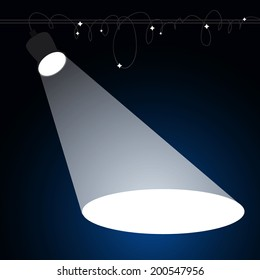 Spotlight. Vector illustration
