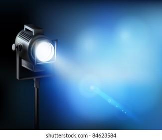 Spotlight. Vector illustration.