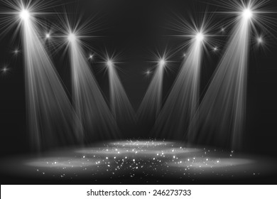Spotlight vintage background. Vector illustration