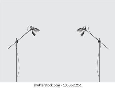 Spotlights illustration of projector for studio.
