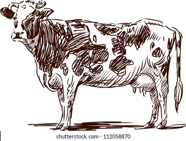 Cow Drawing Images, Stock Photos & Vectors | Shutterstock
