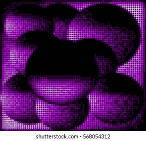 Spotted halftone grunge purple line background. Abstract vector illustration background. Grunge grid polka dot background pattern