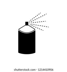 Spray aerosol bottle, graffiti can vector icons. Spray aerosol in bottle, hairspray compressed illustration