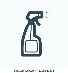 Spray bottle icon, cleaning spray bottle  for washing windows vector icon