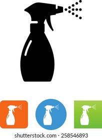Spray bottle with mist icon