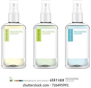 Spray bottle skincare. illustration