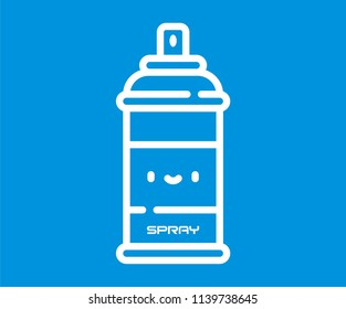 SPRAY BOTTLE VECTOR ICON