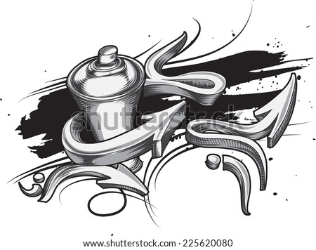 spray can graffiti arrows stock vector royalty free 225620080