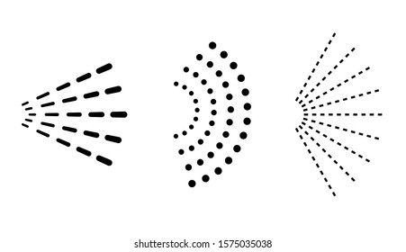 Spray cloud vector icon set isolated on white background
