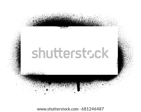 Spray Graffiti Stencil Template Stock Vector Royalty Free