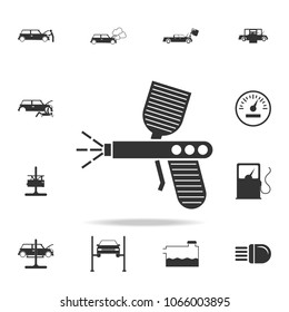 spray gun icon. Detailed set of car repear icons. Premium quality graphic design icon. One of the collection icons for websites, web design, mobile app on white background