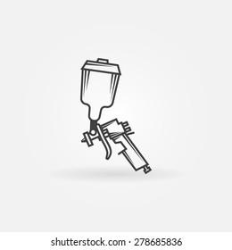 Spray gun icon or logo - black vector symbol