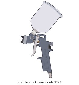 Spray gun isolated on a white background