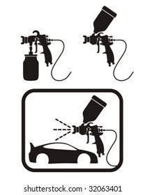 Spray gun. Vector illustration.