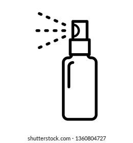 ฺBottle spray icon vector