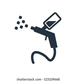 spray, isolated icon on white background, auto service, car repair